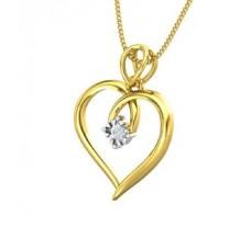 Natural Diamond Heart Pendant 0.05 CT / 1.20 gm Gold
