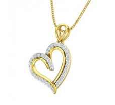 Natural Diamond Heart Pendant 0.25 CT / 1.62 gm Gold