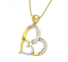Natural Diamond Heart Pendant 0.22 CT / 1.83 gm Gold
