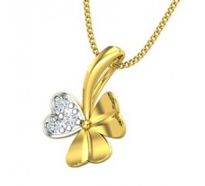 Natural Diamond Heart  Pendant 0.09 CT / 0.93 gm Gold