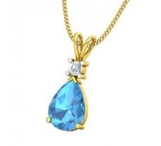 Natural Diamond & Gemstone Pendant 2.27 CT / 0.80 gm Gold