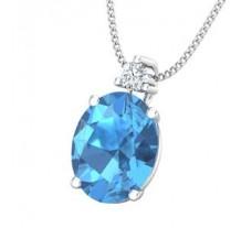 Natural Diamond & Gemstone Gold Pendant