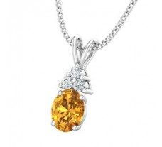 Natural Diamond & Gemstone Gold Pendant