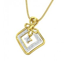 Natural Diamond Pendant 0.20 CT / 1.50 gm Gold