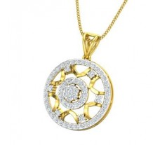 Natural Diamond Pendant 0.66 CT / 3.11 gm Gold