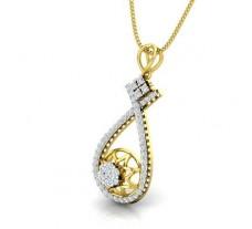 Natural Diamond Pendant 0.54 CT / 2.73 gm Gold