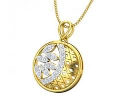 Natural Diamond Pendant 0.29 CT / 2.42 gm Gold