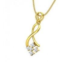 Natural Diamond Pendant 0.09 CT / 0.94 gm Gold