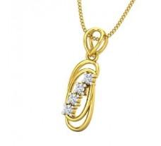 Natural Diamond Pendant 0.10 CT / 1.15 gm Gold