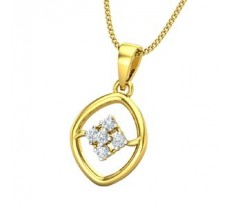 Natural Diamond Pendant 0.09 CT / 1.19 gm Gold
