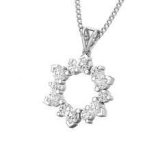 Natural Diamond Pendant 0.24 CT / 0.85 gm Gold