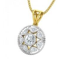 Natural Diamond Pendant 0.29 CT / 1.05 gm Gold