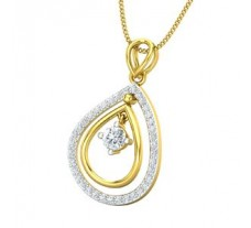 Natural Diamond Pendant 0.48 CT / 2.00 gm Gold