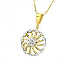 Natural Diamond Pendant 0.34 CT / 2.39 gm Gold
