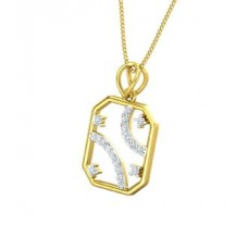 Natural Diamond Pendant for Men 0.17 CT / 1.90 gm Gold