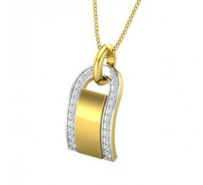 Natural Diamond Pendant for Men 0.19 CT / 2.59 gm Gold