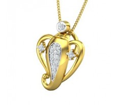Natural Diamond Pendant 0.16 CT / 1.40 gm Gold