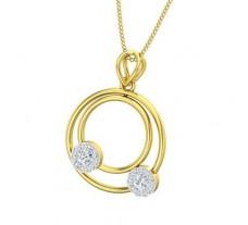 Natural Diamond Pendant 0.30 CT / 1.90 gm Gold