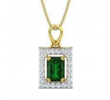 Natural Diamond & Gemstone Pendant 1.48 CT / 2.00 gm Gold