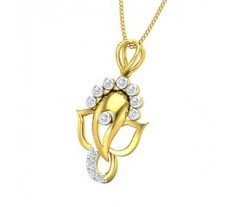 Natural Diamond Pendant 0.17 CT / 1.80 gm Gold