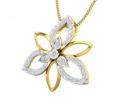 Natural Diamond Pendant 0.41 CT / 2.10 gm Gold