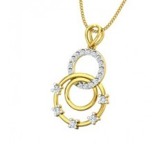 Natural Diamond Pendant 0.26 CT / 1.70 gm Gold