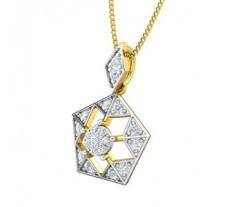 Natural Diamond Pendant 0.24 CT / 1.20 gm Gold