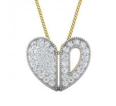 Natural Diamond Pendant 0.43 CT / 1.50 gm Gold