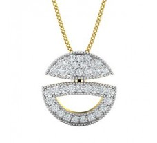 Natural Diamond Pendant 0.36 CT / 1.60 gm Gold