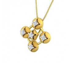 Natural Diamond Pendant 0.30 CT / 2.80 gm Gold