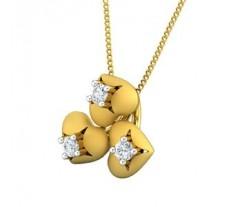 Natural Diamond Pendant 0.15 CT / 1.90 gm Gold