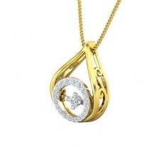Natural Diamond Pendant 0.22 CT / 2.00 gm Gold