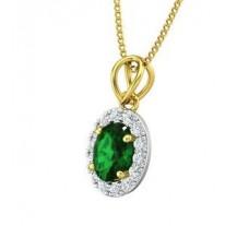 Natural Diamond & Gemstone Pendant 1.16 CT / 0.75 gm Gold