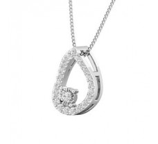Natural Diamond Pendant 0.25 CT / 1.30 gm Gold