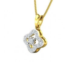 Natural Diamond Pendant 0.20 CT / 1.40 gm Gold