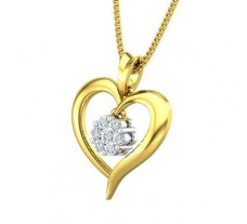 Natural Diamond Pendant 0.12 CT / 1.22 gm Gold