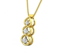Natural Diamond Pendant 0.14 CT / 1.41 gm Gold