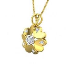 Natural Diamond Pendant 0.16 CT / 2.30 gm Gold