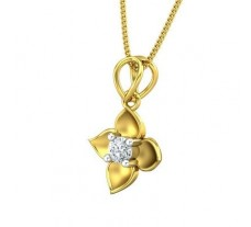 Natural Diamond Pendant 0.14 CT / 1.60 gm Gold