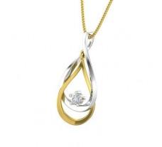 Natural Diamond Pendant 0.10 CT / 1.90 gm Gold