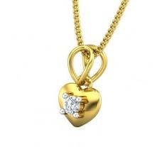 Natural Diamond Pendant 0.05 CT / 0.60 gm Gold