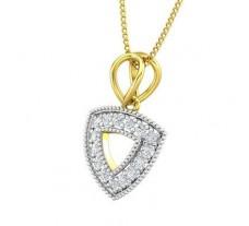 Natural Diamond Pendant 0.18 CT / 1.15 gm Gold