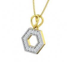 Natural Diamond Pendant 0.21 CT / 1.60 gm Gold