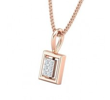 Natural Diamond Pendant 0.03 CT / 0.42 gm 18k Rose Gold