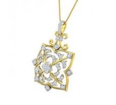 Natural Diamond Pendant 0.77 CT / 6.20 gm Gold