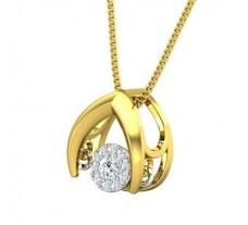 Natural Diamond Pendant 0.15 CT / 1.55 gm Gold