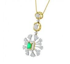 Natural Diamond & Gemstone Pendant 1.73 CT / 6.82 gm Gold