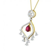 Natural Diamond & Gemstone Pendant 2.33 CT / 4.64 gm Gold