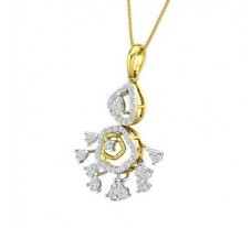 Natural Diamond Pendant 0.75 CT / 4.47 gm Gold