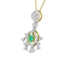 Natural Diamond & Gemstone Pendant 1.65 CT / 4.82 gm Gold
